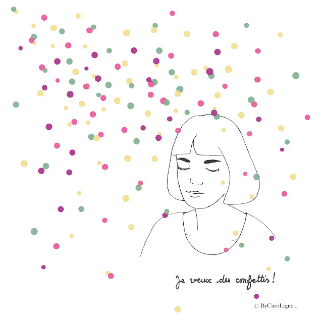 Illustration CaroLigne Confettis dessin