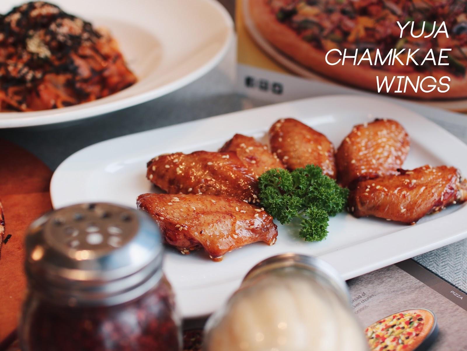 yuja chicken, yujucha, chamkkae, korean fried chicken, pizza hut, review