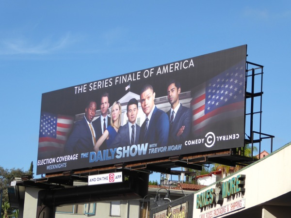 Daily Show series finale of America billboard