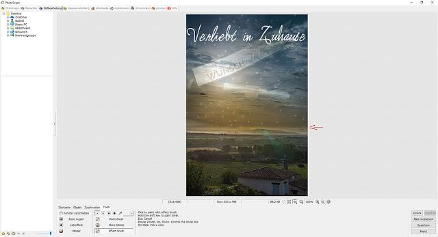 PhotoScape Anleitung und Schritt für Schritt mit Bilder-Tutorial: Effect Brush Unscharf verwischt den Übergang