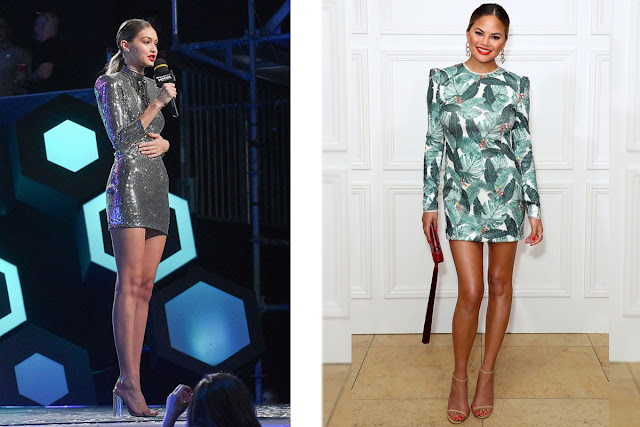 Celebs in sequin mini dresses