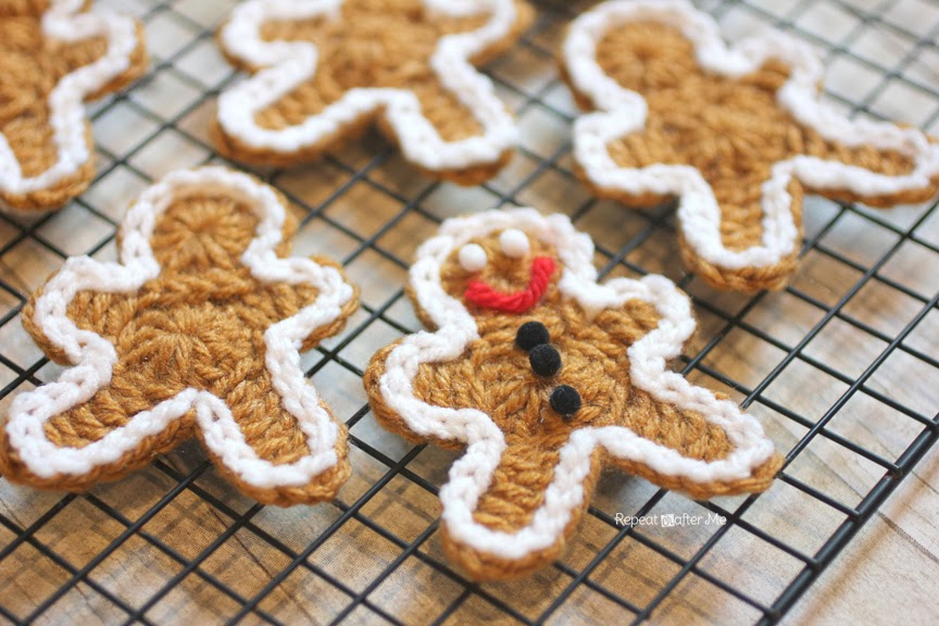Crocheted Gingerbread Man Cookie Pattern Repeat Crafter Me