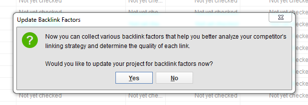 Update BackLink Factors POP