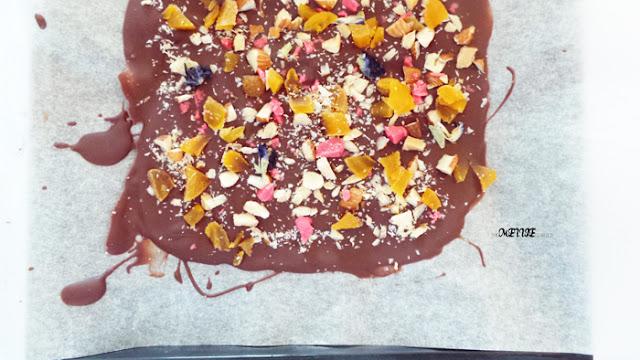 5-minute chocolate bark recipe pinterest