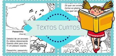 Confira mais de 20 Textos curtos para leitura e interpretação prontos para imprimir.