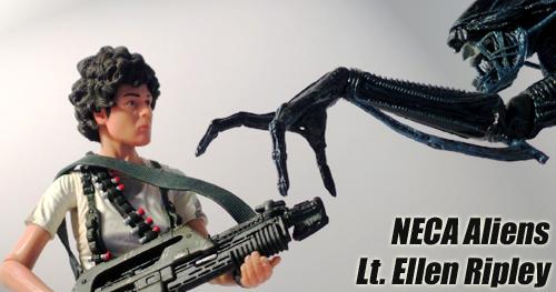 NECA Aliens Lt. Ellen Ripley figura bemutató