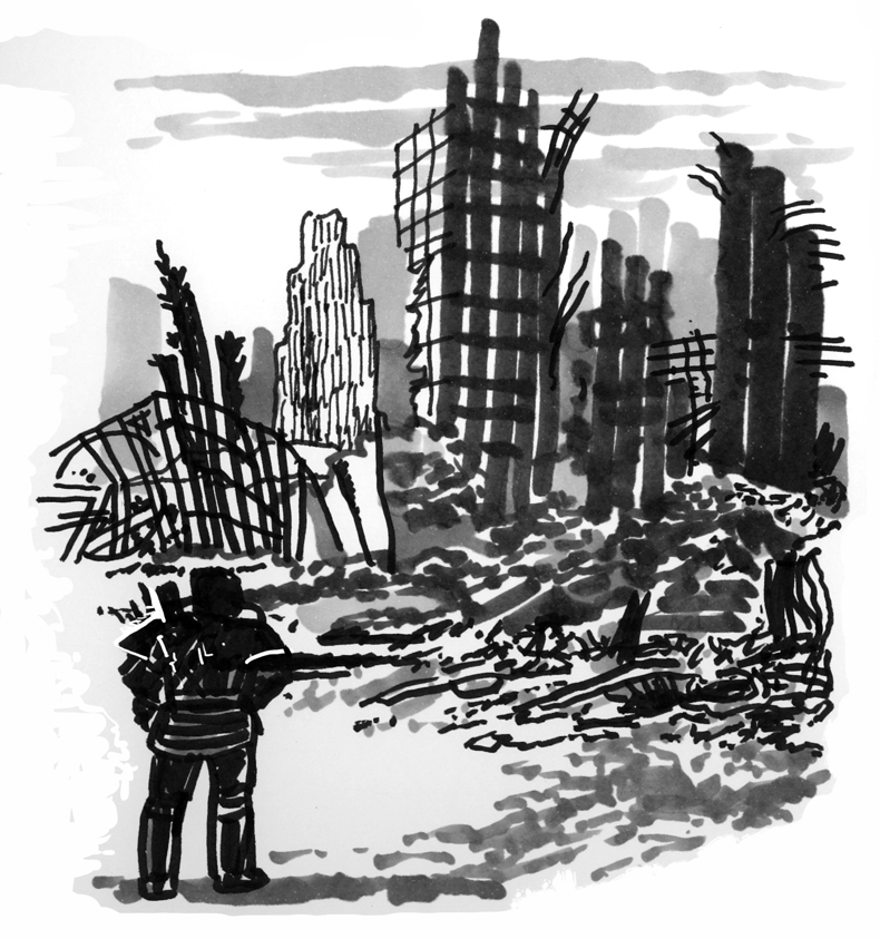 Destroyed City Drawing...