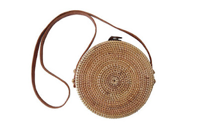 Round Bamboo crossbody purse on Etsy