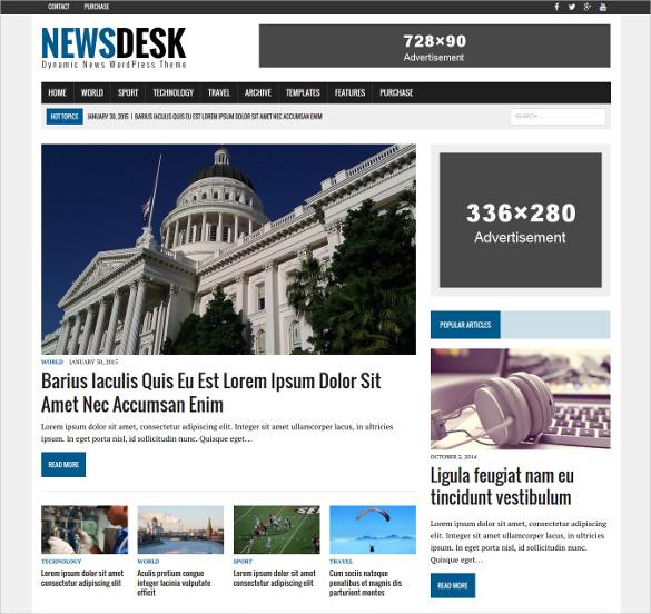 TEMPLATE NET : 20 News Blog Themes & Templates - Info Data Dunia ...