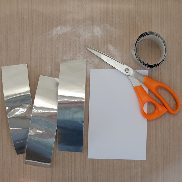 Embossing Prep: Adding Foil Tape to Cardstock