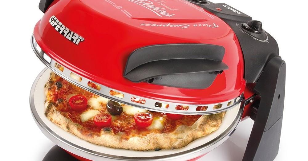 G3 Ferrari Freude Rot Ofen für Pizza 1200w mit Thermostat bis zu 390 Grad