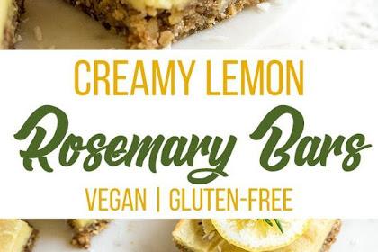 Creamy Lemon Rosemary Bars