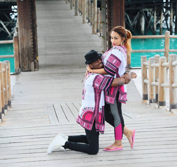 Fashion Alert! Diamond Platnumz and pregnant wife Zari rock matching outfits on vacation