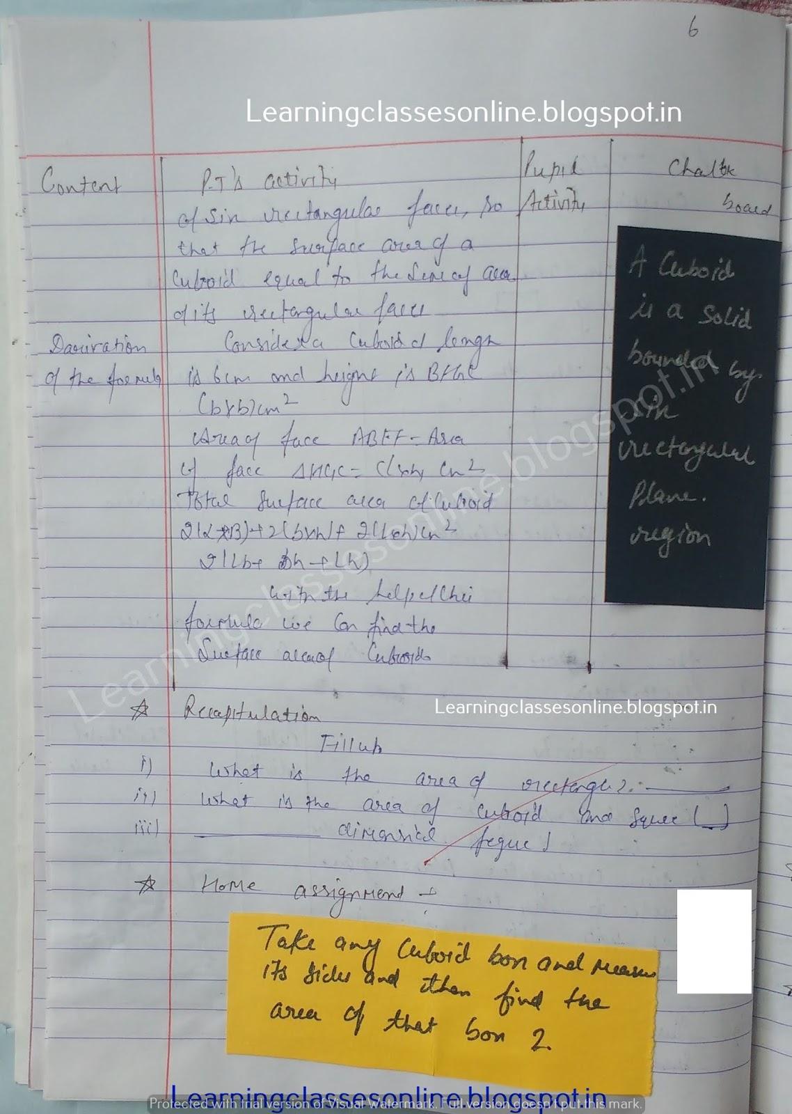 b.ed lesson plans free mathematics, math lesson plan format