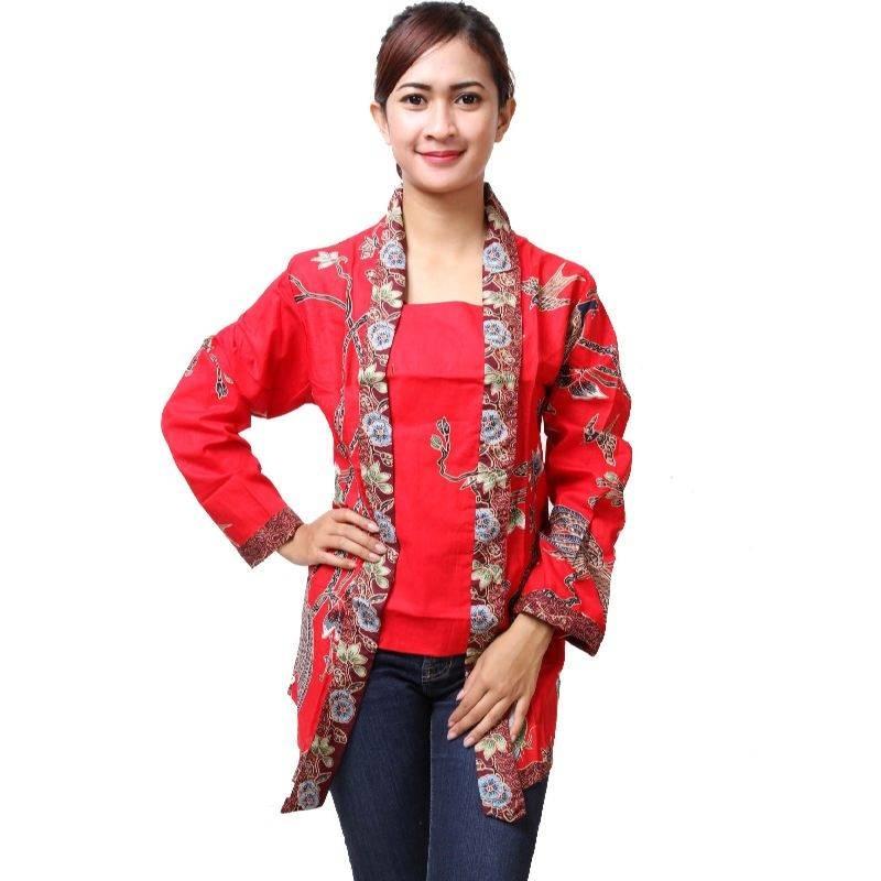 50+ Model Baju Batik Wanita Kombinasi 2020 yang Mempesona ...