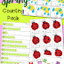 Spring Counting Math Pack