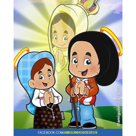 santo francisco e santa jacinta desenho