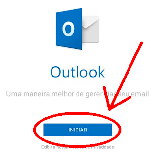 Abrir app do Hotmail no celular