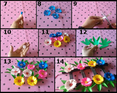 Tutorial Hiasan Dinding Bunga-Bunga dari Kertas Origami 2