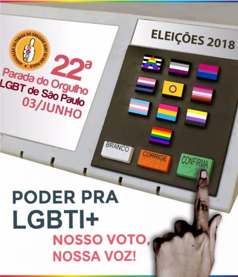 """Eleições será o tema da """"Parada LGBT de SP"""", que acontece dia 3 de junho"""