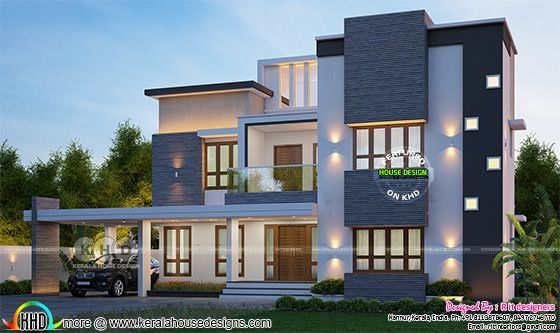 2290 square feet 2 bedroom modern home plan