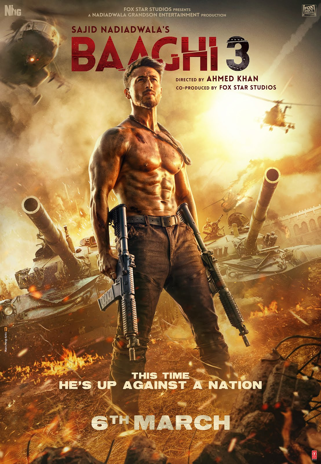 Baaghi 3 (2020) Hindi Movie 720p HDRip 900MB ESubs Free Download