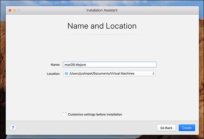 Localizzazione della macchina virtuale