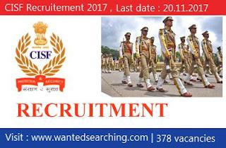 CISF Recruitement 2017