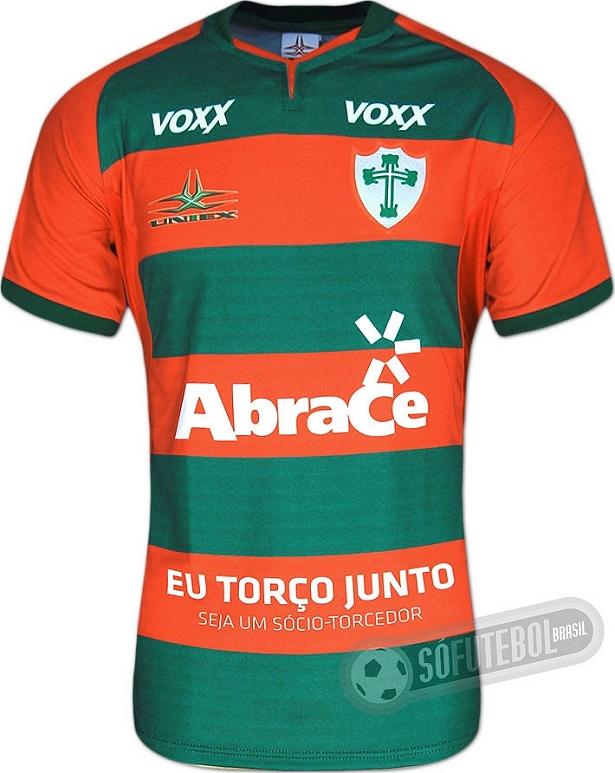 39c27a83a5 Uniex apresenta nova camisa titular da Portuguesa - Show de Camisas