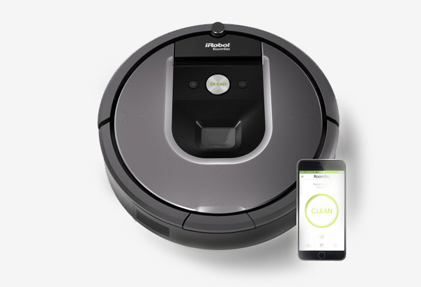 Roomba 960 Robotic iAdapt 2.0 Navigation with Visual Localization enables Roomba to navigate and clean an entire level of your home