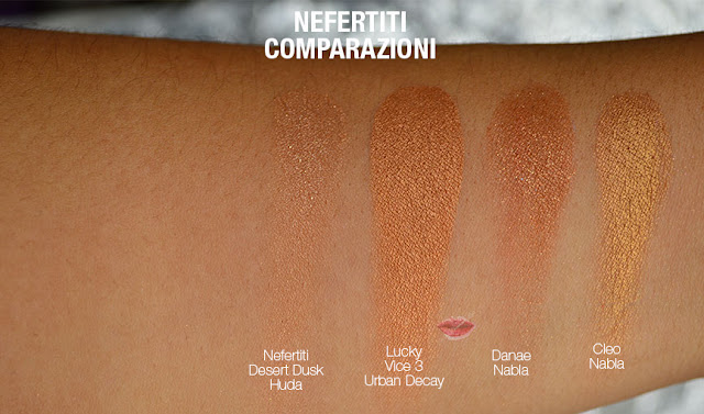 swatch dupe nefertiti huda beauty desert dusk