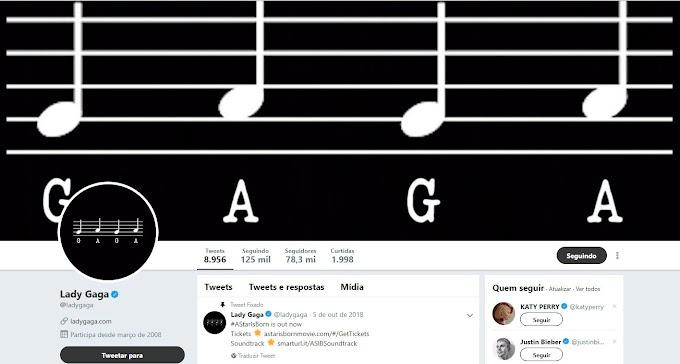 Lady Gaga muda visual do twitter e fãs perguntam: é o LG6 que tá vindo amor?