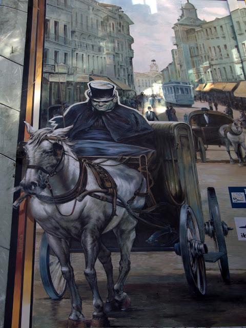 Trampantojo. Mural. Calle de la Montera. Alberto Pirrongelli