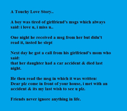 Heart touching Love story, Friends never ignore anything in life...