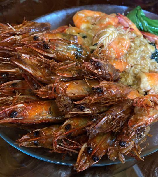 Crunchy shrimp heads