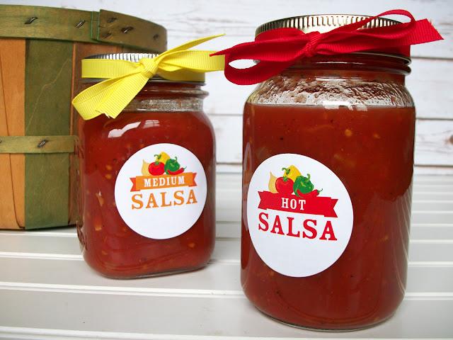 salsa canning jar labels