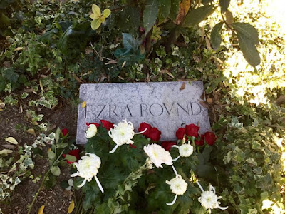 Tomb of Ezra Pound, November 1, 2015 - Photo: Cat Bauer - San Michele Cemetery, Venice, Italy