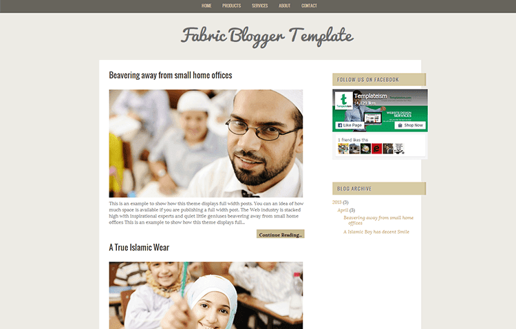 Fabric Free Blogger Template