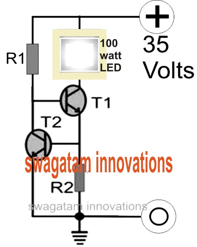 100 watt current controlled led driver circuit. Black Bedroom Furniture Sets. Home Design Ideas