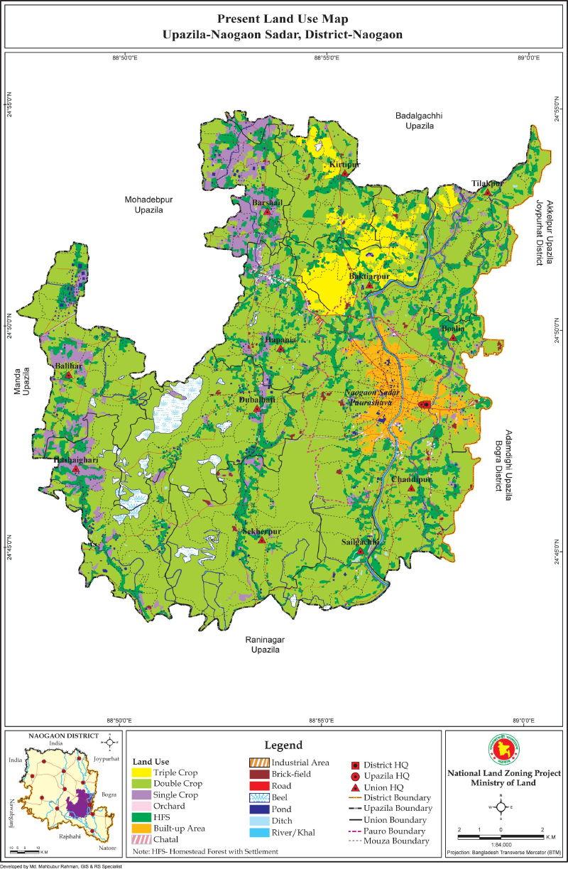 Naogaon Sadar Upazila Mouza Map Naogaon District Bangladesh