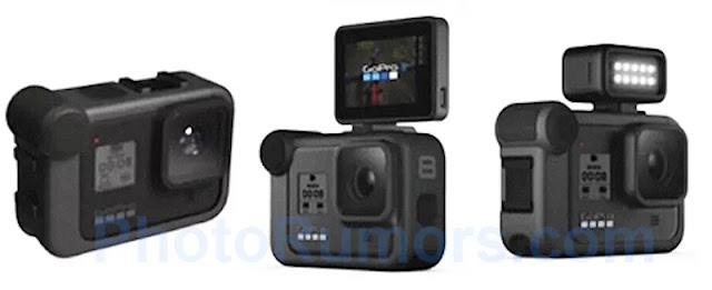 Immagini della nuova GoPro HERO8, girerà video in 4K a 120 fps