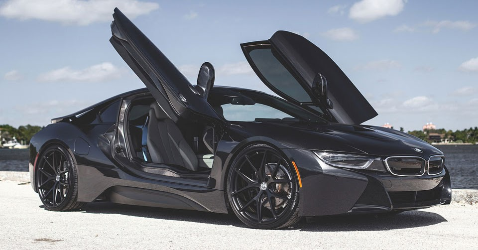Blacked-Out BMW i8 Looks Stealthy With HRE Wheels