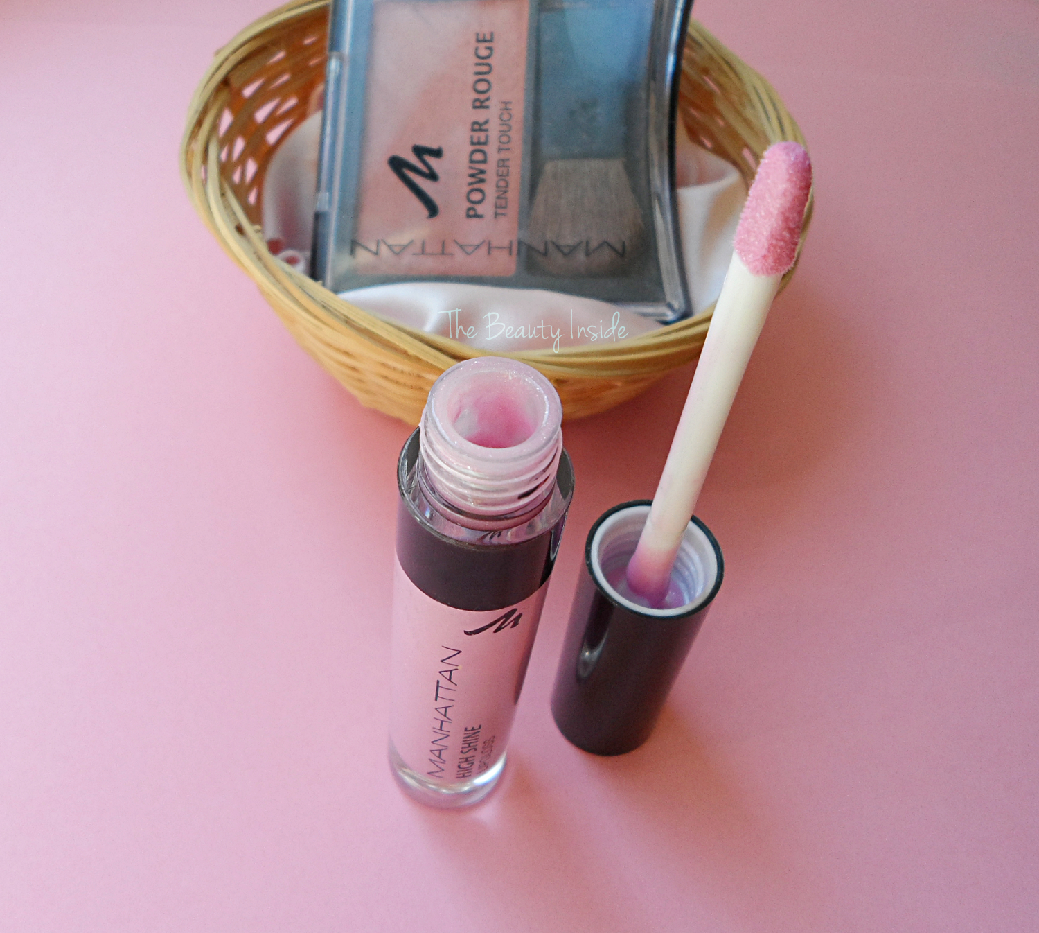 review swatch Manhattan lip gloss, Manhattan blush review and swatch liz breygel january girl
