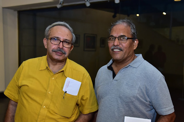 Artist Anand Moy Banerjee with Duttatraya Apte
