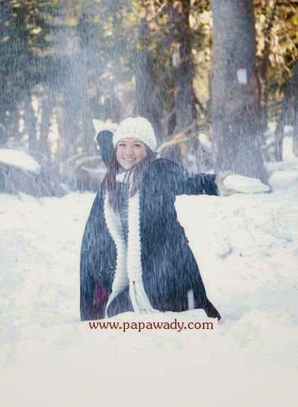 Thet Mon Myint Playing Snow