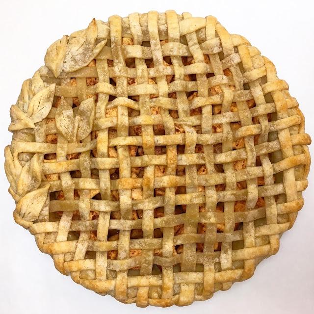 Baked Apple Pie with Lattice Crust