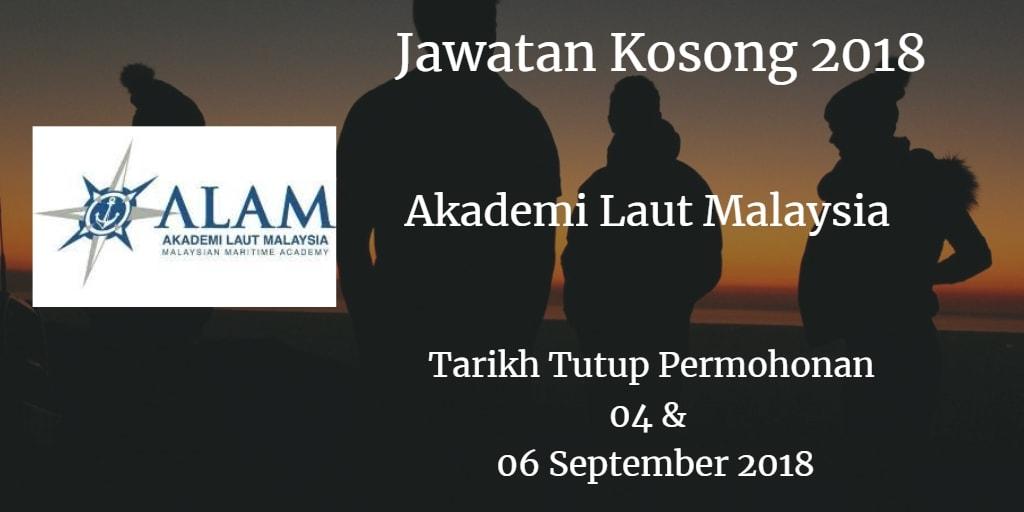 Jawatan Kosong ALAM 04 & 06 September 2018