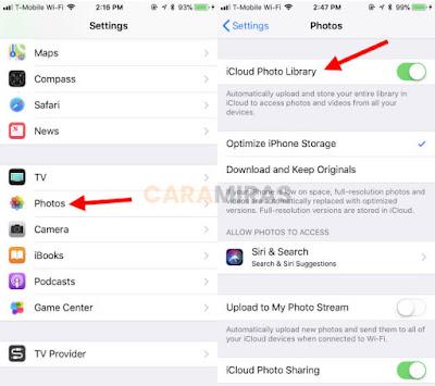Cara Memindahkan Foto dari iPhone ke PC/Laptop - icloud library