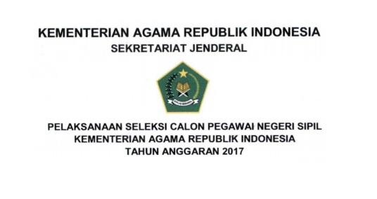 Lowongan Kerja CPNS Kementerian Agama 2017