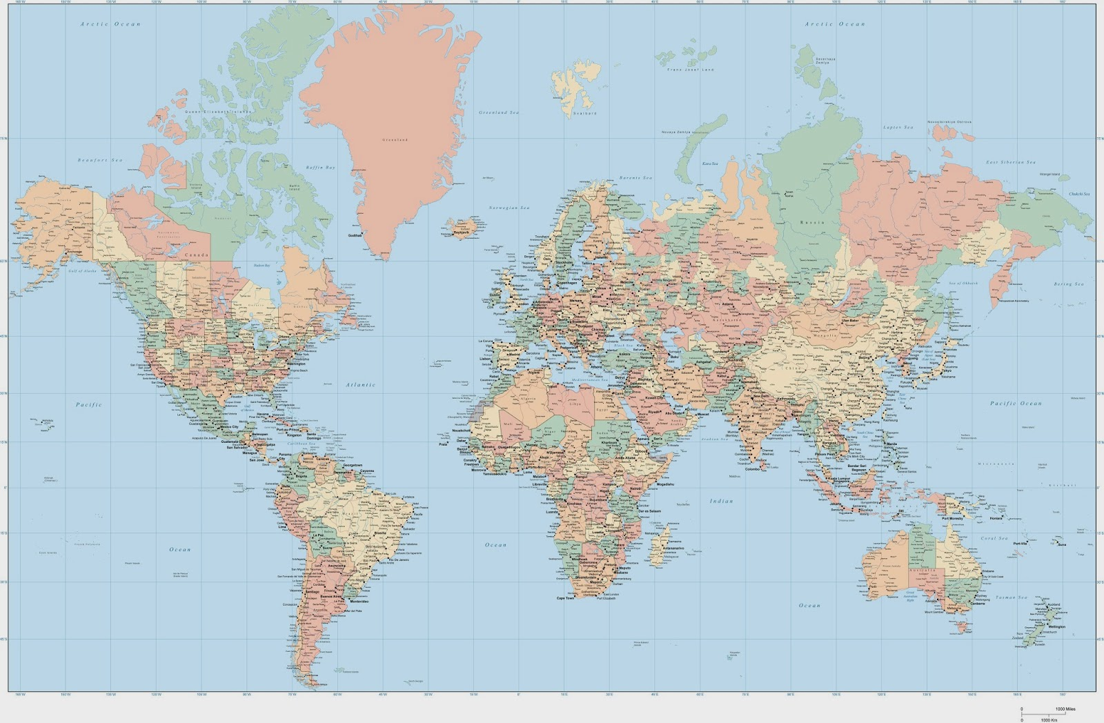 satelitska mapa sveta Splošna razgledanost satelitska mapa sveta